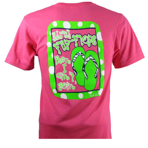 Bjaxx Funny If I Can't Wear my Flip Flops I Aint Going Polka Dot Pink Girlie Bright T Shirt - SimplyCuteTees