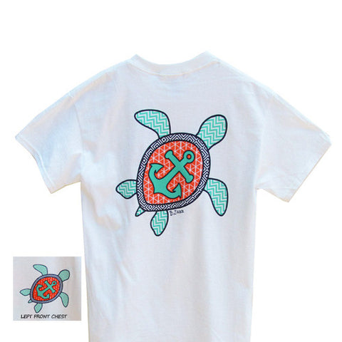 Bjaxx Chevron Sea Turtle Anchor Southern Girlie Bright T Shirt - SimplyCuteTees