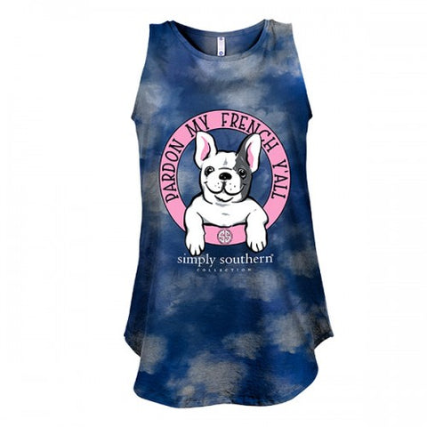 Simply Southern Preppy Pardon My French Bulldog Tank Top
