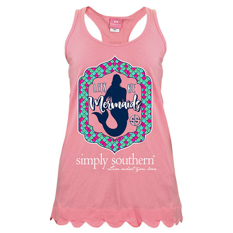Simply Southern Preppy Let's Be Mermaids Tank Top