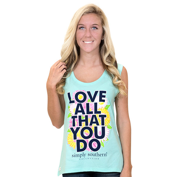 7164f509590abd Simply Southern Preppy Love All That You Do Tank Top