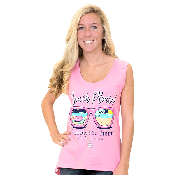 b7dbdc5d6cea2a Simply Southern Preppy Beach Please Sunglasses Tank Top
