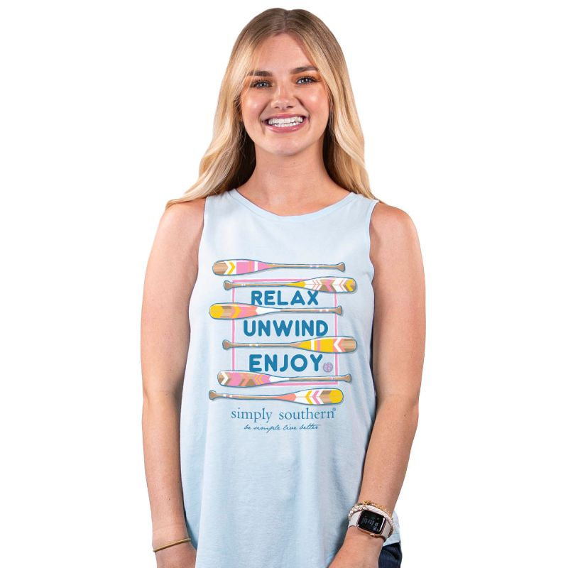 Simply Southern Preppy Relax Paddles Tank Top