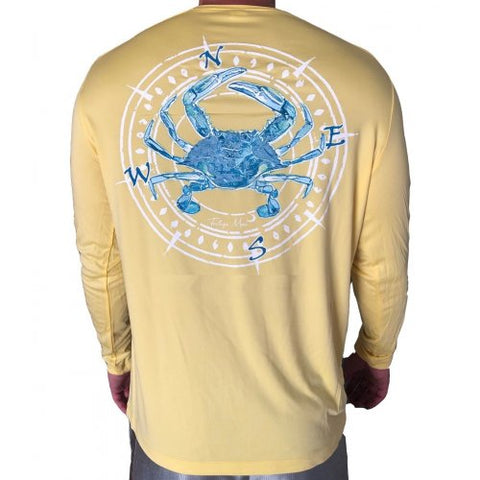 Southern Attitude Tortuga Moon Crab Unisex Sport Tech Yellow T-Shirt