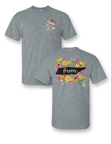 SALE Sassy Frass Tennessee Forever Flowers TN State Design Girlie Bright T Shirt