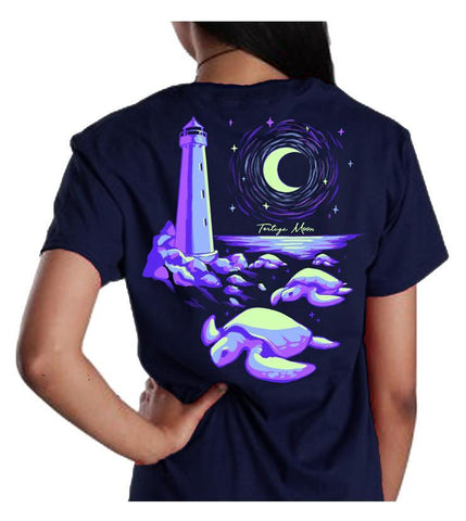 Southern Attitude Tortuga Moon Lighthouse Turtles Comfort Colors T-Shirt