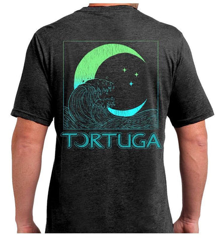 Southern Attitude Tortuga Moon Wave Soft Canvas T-Shirt