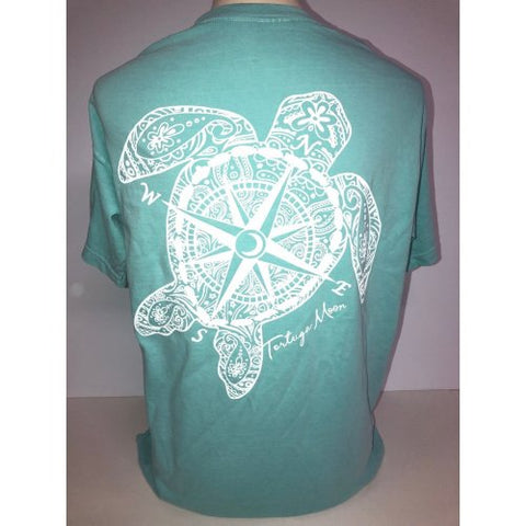 Southern Attitude Tortuga Moon Compass Turtle Comfort Colors T-Shirt