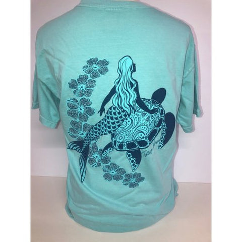 Southern Attitude Tortuga Moon Mermaid Turtle Comfort Colors T-Shirt