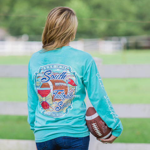 Old South Tailgating In The South Comfort Colors Long Sleeve T-Shirt - SimplyCuteTees