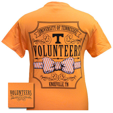 Tennessee Vols Volunteer Class Prep Bow Girlie Bright T