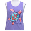 Girlie Girl Originals Turtle Anchor Purple Bright Tank Top