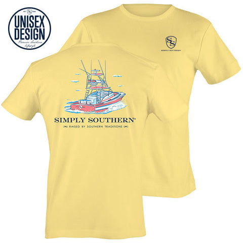 Simply Southern Traditions Boat Sunrise Unisex Design T-Shirt