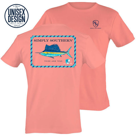 Sale Simply Southern TRIED & True Fish Unisex Design T-Shirt