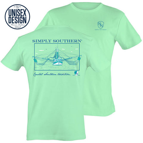 Simply Southern Shrimp Boat Unisex Design T-Shirt