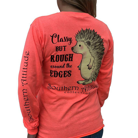 Southern Attitude Preppy Hedgehog Long Sleeve T-Shirt