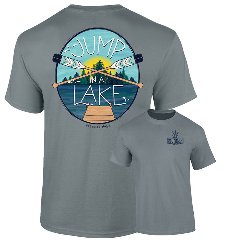 Southernology Preppy Jump in a Lake Paddle Comfort Colors T-Shirt