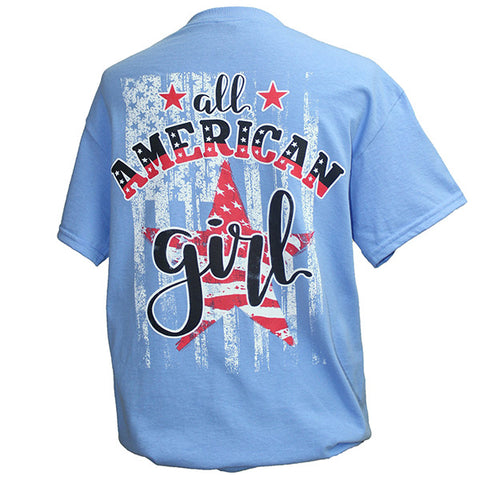 Southern Attitude Preppy USA All American Girl T-Shirt