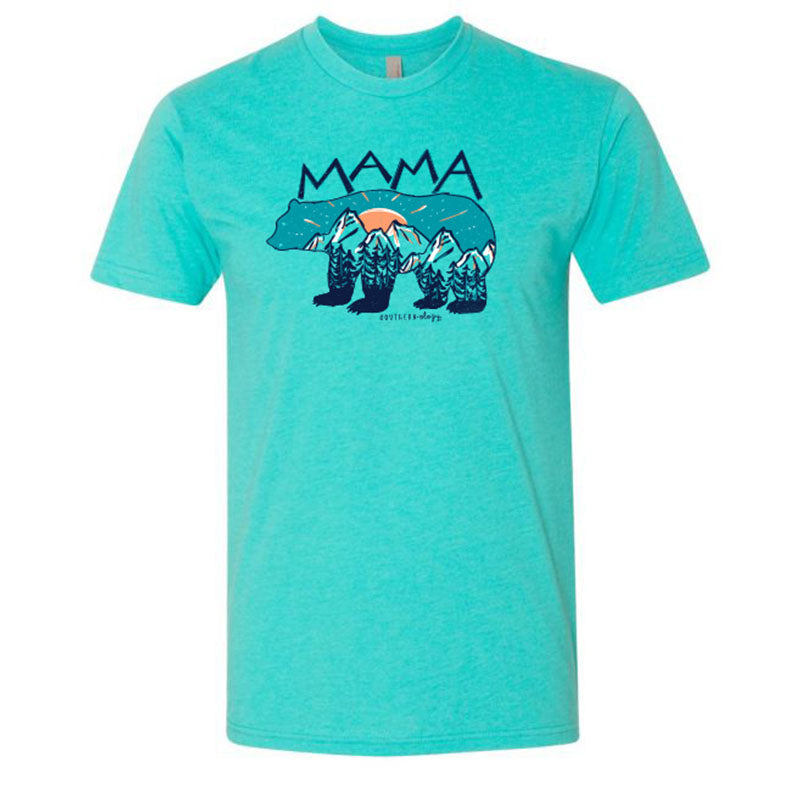 Southernology Statement Collection Mama Bear Mountain Canvas T-Shirt