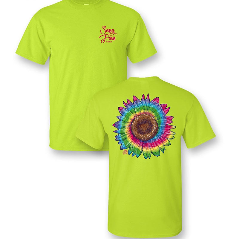 Sassy Frass Preppy Tiedye Sunflower T-Shirt