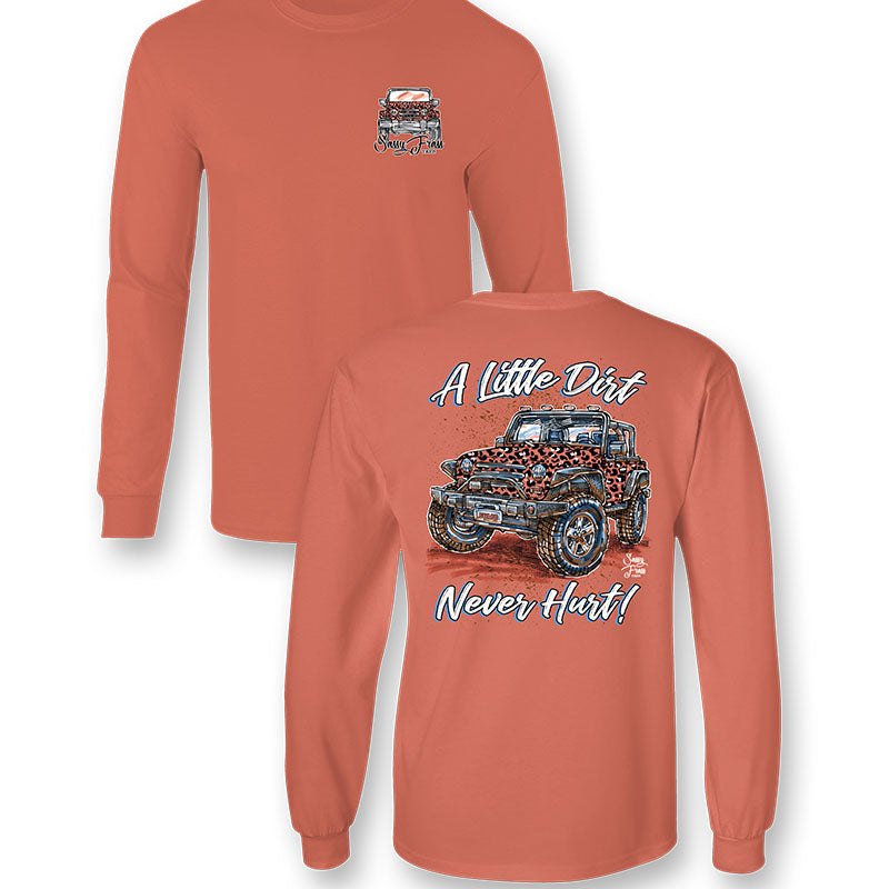 Sassy Frass Little Dirt Never Hurt Jeep Comfort Colors Long Sleeve T-Shirt