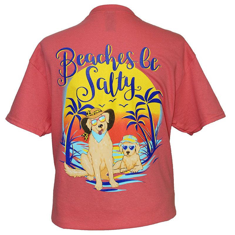Southern Attitude Coral Beaches Be Salty Dogs T-Shirt