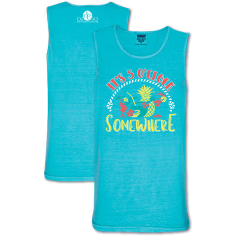 8d534d5140392 Southern Couture Comfort 5 O Clock Somewhere Comfort Colors T Shirt Tank Top