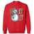 Sassy Frass Holly Jolly Christmas Snowman Long Sleeve Crew Sweatshirt