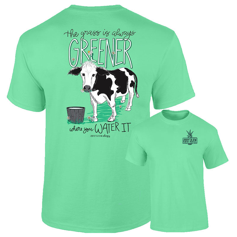 Southernology The Grass is Greener Cow Comfort Colors T-Shirt