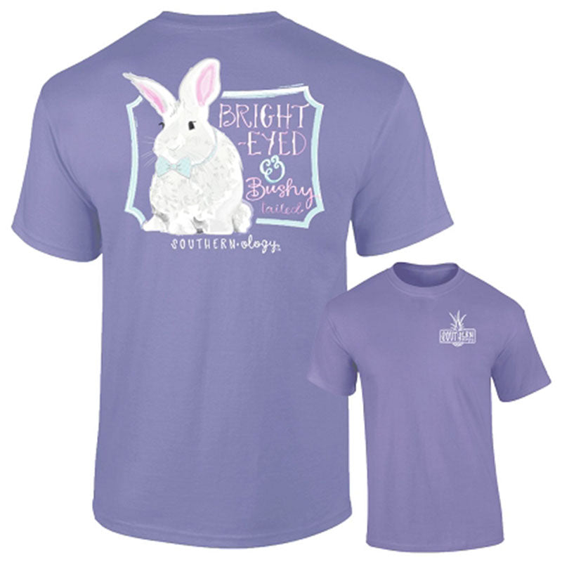 Southernology Bright Eyed & Bushy Tailed Bunny Easter Comfort Colors T-Shirt