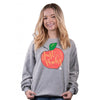 Simply Southern Just Peachy Long Sleeve Crew Sweatshirt
