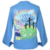 Southern Attitude Easter He Has Risen Bunny Long Sleeve T-Shirt