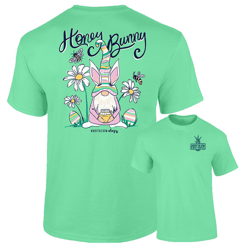 Southernology Honey Bunny Gnome Easter Comfort Colors T-Shirt