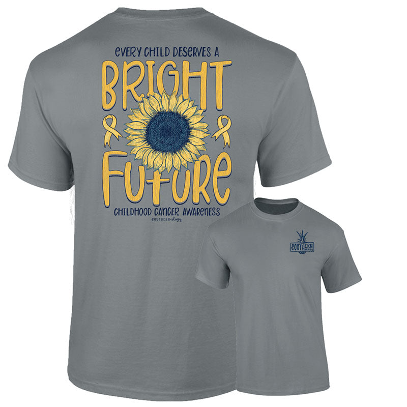 Southernology Childhood Cancer Bright Future Comfort Colors T-Shirt