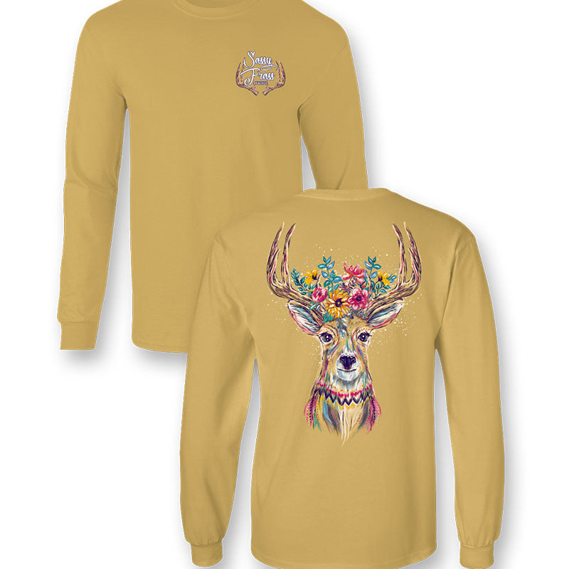 Sassy Frass Whitetail Deer Fall Comfort Colors Long Sleeve T-Shirt