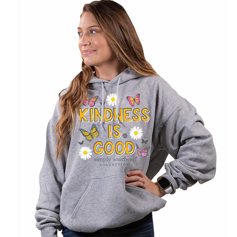 Simply Southern Kindness Is Good Butterfly Pullover Hoodie T-Shirt