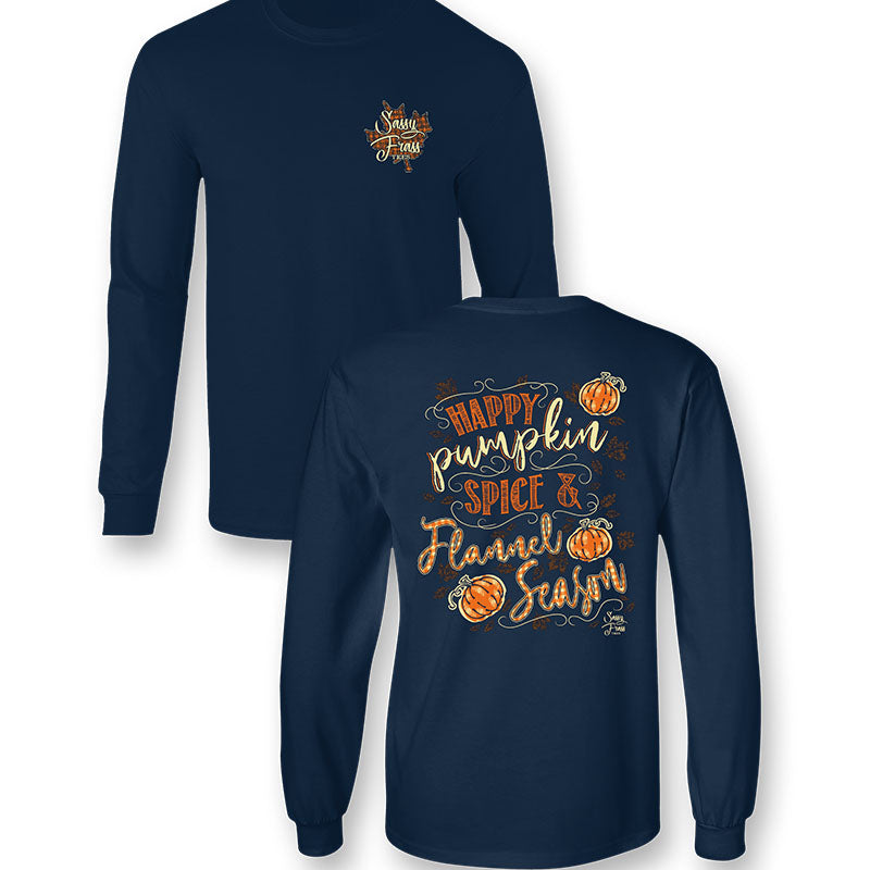 Sassy Frass Pumpkin Spice Fall Comfort Colors Long Sleeve T-Shirt