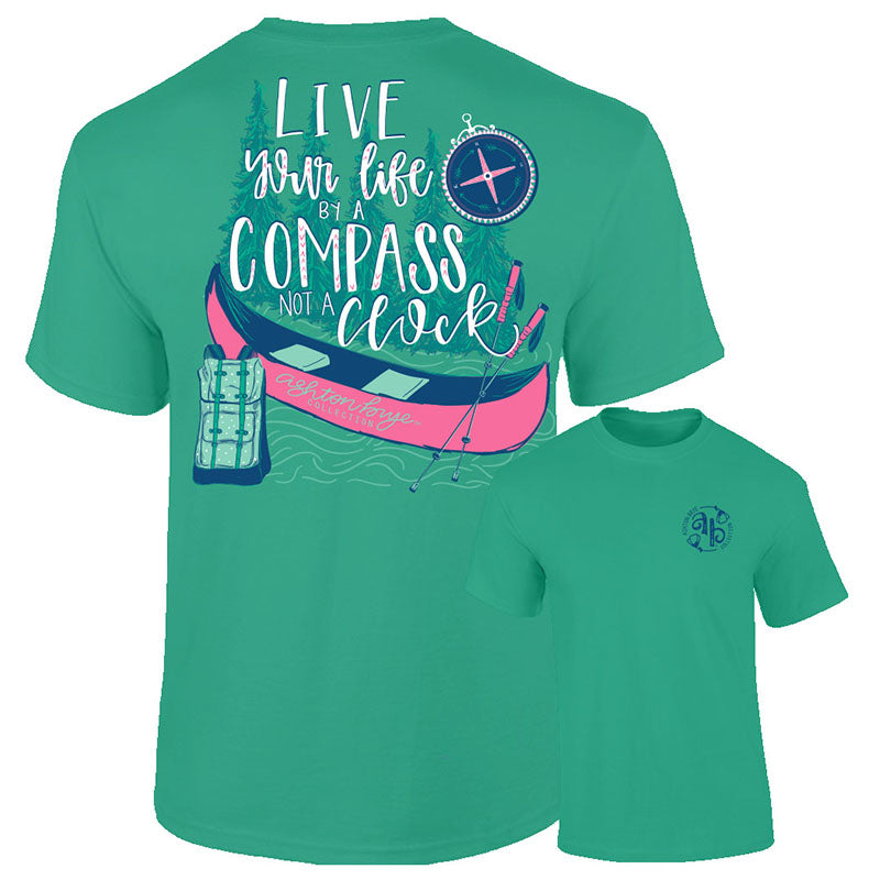 Southernology Ashton Brye Live Your Life Compass Comfort Colors T-Shirt