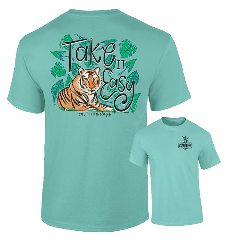 Southernology Take it Easy Tiger Comfort Colors T-Shirt