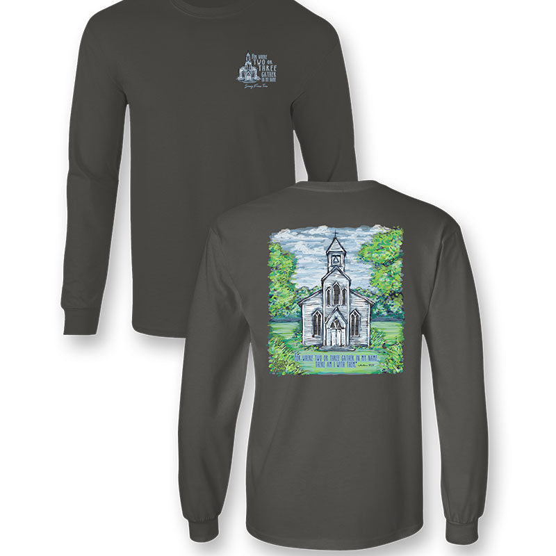 Sassy Frass Matthew 18:20 Church Long Sleeve T-Shirt