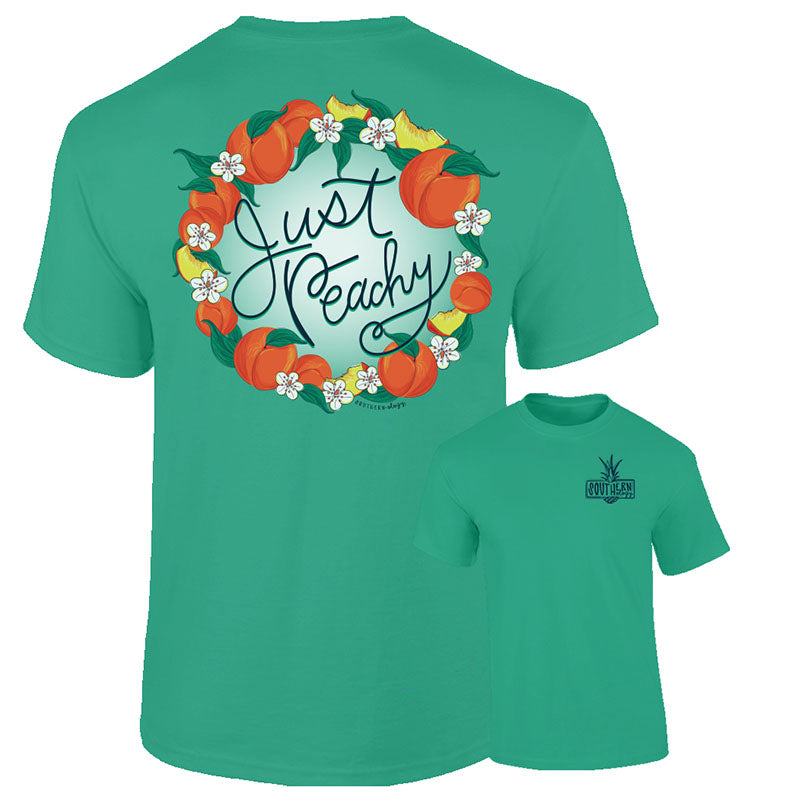 Southernology Preppy Just Peachy Comfort Colors T-Shirt