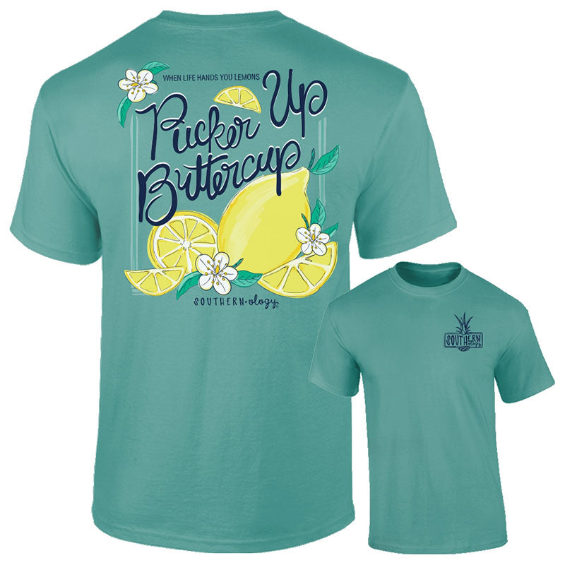 Southernology Pucker Up Buttercup Comfort Colors T-Shirt