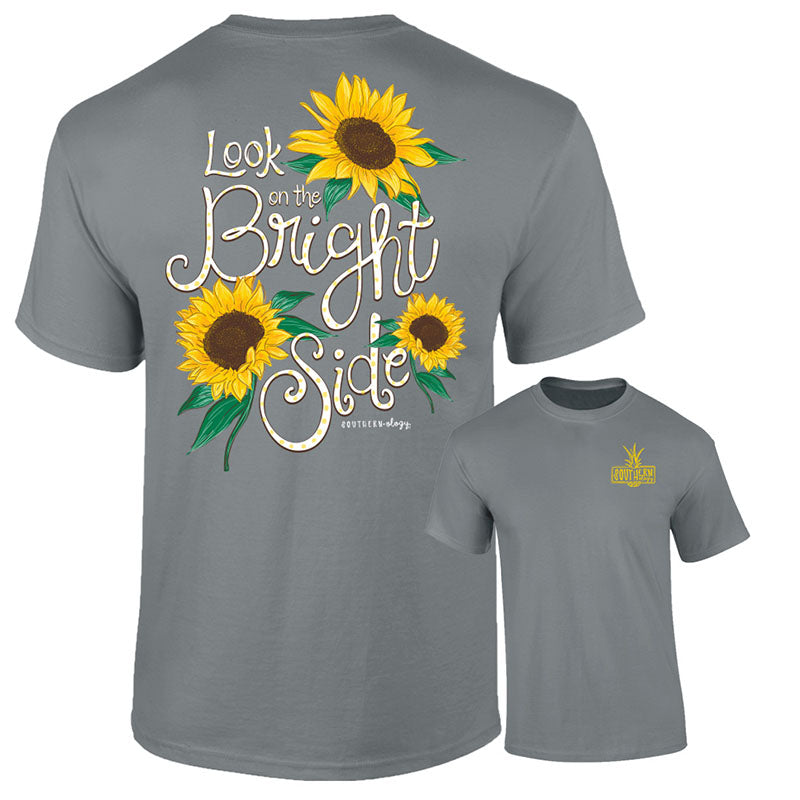Southernology Bright Side Sunflower Grey Comfort Colors T-Shirt