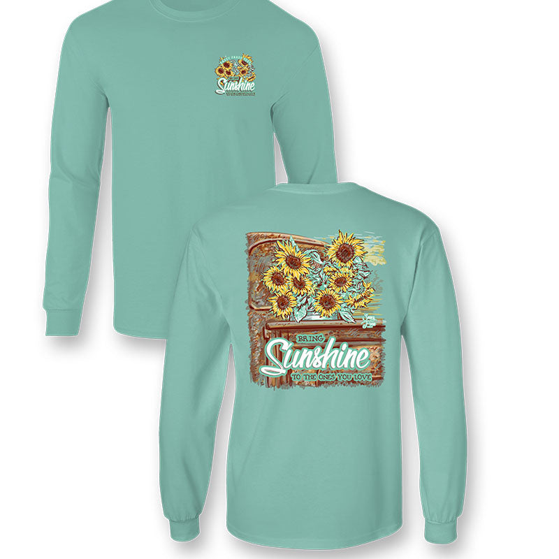 Sassy Frass Sunflower Truck Comfort Colors Long Sleeve T-Shirt