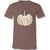 Sassy Frass Thankful White Pumpkin V-Neck Canvas T-Shirt