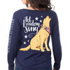Southern Attitude Preppy Freedom Sing USA Dog Long Sleeve T-Shirt
