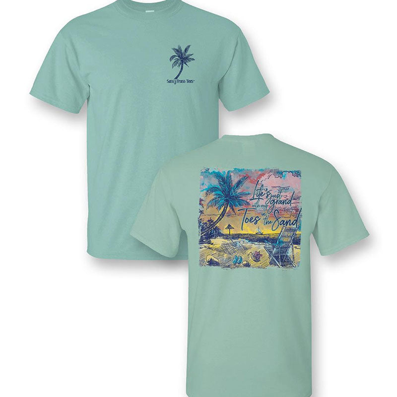 Sassy Frass Beach Toes In The Sand Comfort Colors T-Shirt