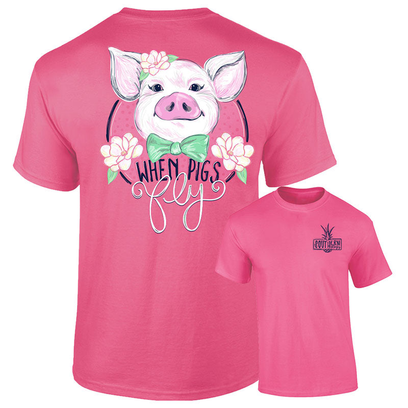 Southernology Preppy When Pigs Fly Comfort Colors T-Shirt