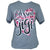 Southern Attitude Blessed Gigi Heart Soft Canvas Front Print T-Shirt