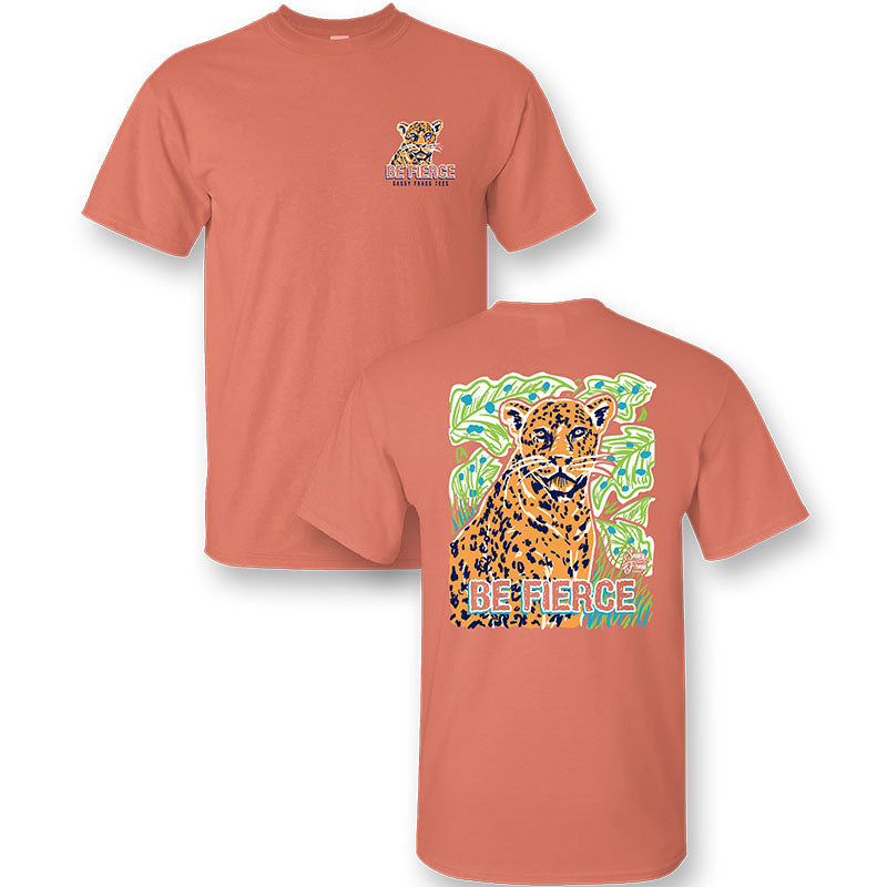 Sassy Frass Preppy Be Fierce Cheetah Comfort Colors T-Shirt
